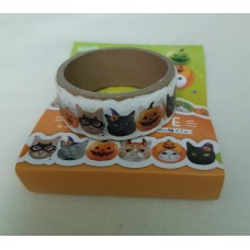 Cinta Halloween Cat Washi Tape